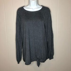 Lauren Conrad Sweater w/Tie & Semi-Bell Sleeves